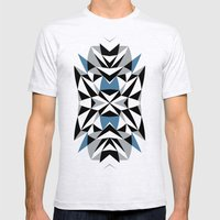 Abstract Kite Black and Blue Mens Fitted Tee Ash Grey SMALL