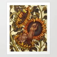 Art Print featuring Autumn by Kate O'Hara Illustra…