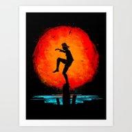 Art Print featuring Minimalist Karate Kid Tr… by Barrett Biggers