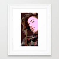 Stylized Geisha Framed Art Print