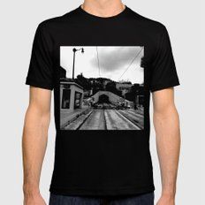 Duboce Tunnel Again Black Mens Fitted Tee SMALL
