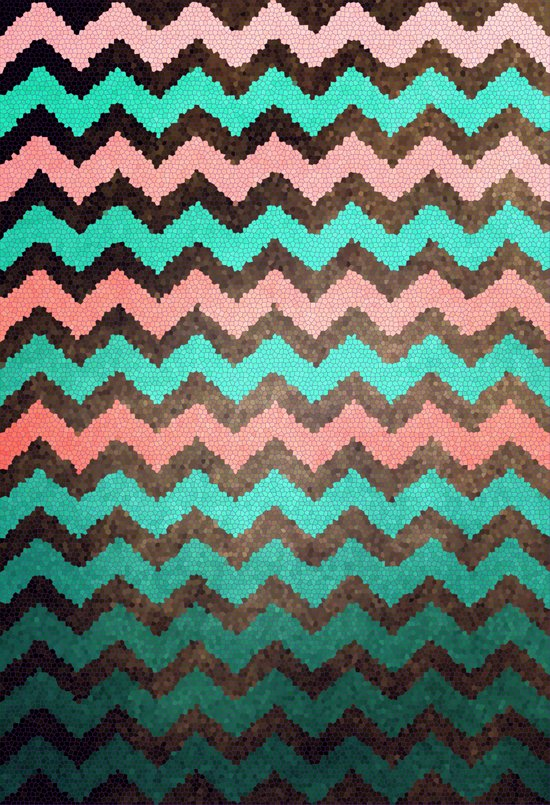 Beaded Chevron Art Print