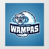 Planet Hoth Wampas - Blue Canvas Print