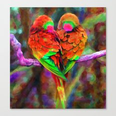 Love Birds - Painting Style Canvas Print