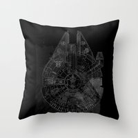 Millenium Falcon Throw Pillow
