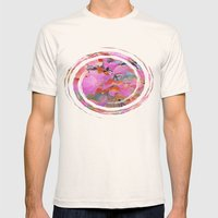 Autumn Rainbow Colors Mens Fitted Tee Natural SMALL