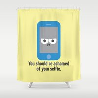 Overexposure Shower Curtain