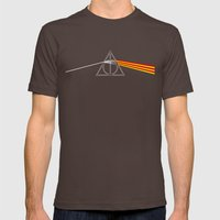 the darkside of the deathly hallows Mens Fitted Tee Brown SMALL