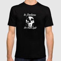 In Darkness, We Crave Light Black SMALL Mens Fitted Tee