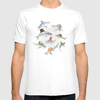 Hats On Mens Fitted Tee White SMALL