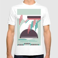 Moustache Mountain Mens Fitted Tee White SMALL
