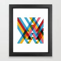 Ribbons Overlay ///www.pencilmeinstationery.com Framed Art Print