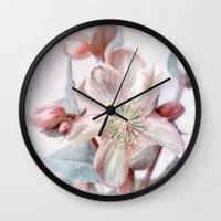 winter blossom Wall Clock
