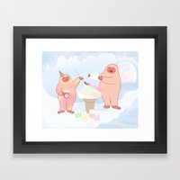 Herbert Sherbert and Rainbow Sherbert  Framed Art Print