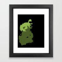 Hulk Splatter Framed Art Print
