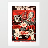 Art Print featuring Double Scary Double Feat… by Gimetzco's Damaged G…