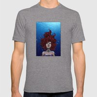 Tears Of A Mermaid Mens Fitted Tee Tri-Grey SMALL