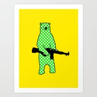 Dot Bear Art Print