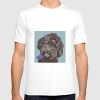 Maddie The Doodle Mens Fitted Tee White SMALL
