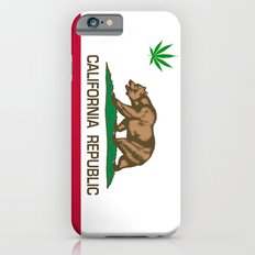 California Republic state flag with green Cannabis leaf iPhone 6s Slim Case
