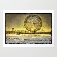Unisphere Sunset Art Print