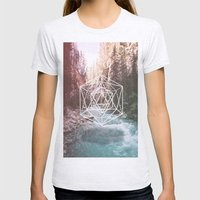 River Triangulation Womens Fitted Tee Ash Grey SMALL