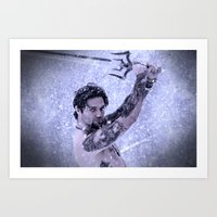 Bam Bam The Snow Warrior Art Print