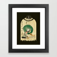 Chinese Idiom: Sitting Duck 插翅难飞  Framed Art Print