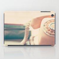 Close up Pink Retro Telephone iPad Case