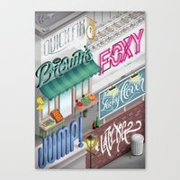 City Pangrams Canvas Print