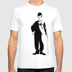 Chaplin White Mens Fitted Tee SMALL