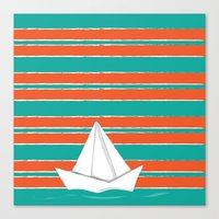PaperBoat Canvas Print