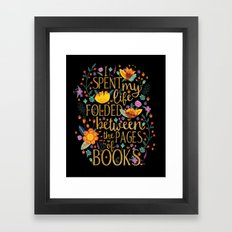 Folded Between The Pages… Framed Art Print