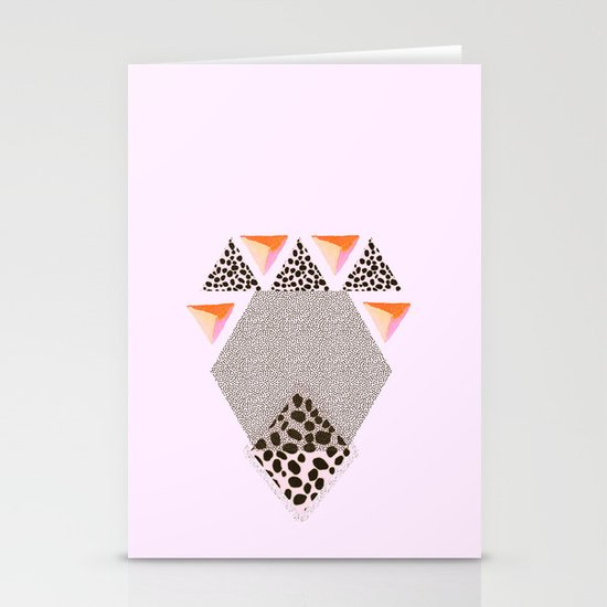 LEOPARD DIAMOND Stationery Card