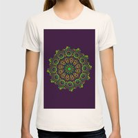 Deep Purple Womens Fitted Tee Natural SMALL