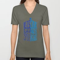 Let's Go Satisfy Our Rabid Curiosity Tardis Unisex V-Neck