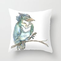 Dragon Bird Throw Pillow