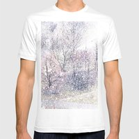 Snow In Early Fall(2). Mens Fitted Tee White SMALL