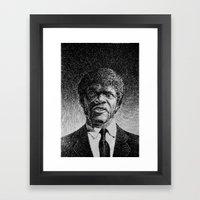 Jules Winnfield Portrait - Fingerprint - Samuel L. Jackson - Pulp Fiction Framed Art Print