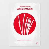 No200 My The Seven Samur… Canvas Print