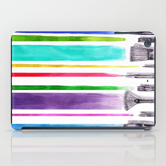 Paint brushes iPad Case