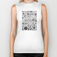 Modern Elements With Bla… Biker Tank