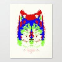 WOLF RGB Canvas Print