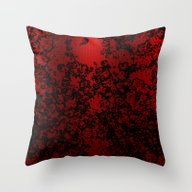 Red And Black Abstract D… Throw Pillow