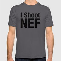 I Shoot NEF Mens Fitted Tee Asphalt SMALL