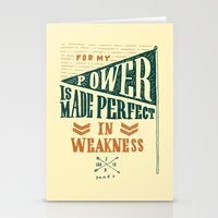 8/52: 2 Corinthians 12:9, part 2 Stationery Cards
