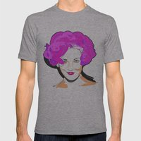 Drew Barrymore Mens Fitted Tee Athletic Grey SMALL