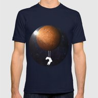 Mars Mens Fitted Tee Navy SMALL