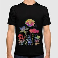 Flower Tales 4 Mens Fitted Tee Black SMALL