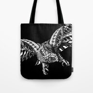 Tote Bag featuring Ornate Falcon by BIOWORKZ